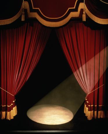 Curtain「Theatre stage, curtains and spotlight (Digital Enhancement)」:スマホ壁紙(3)