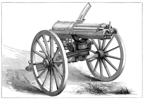 19th Century「Gatling gun」:スマホ壁紙(16)