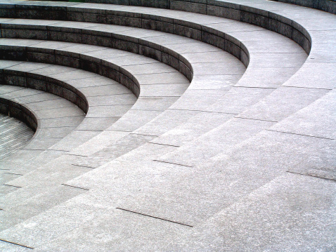 Amphitheater「Grey stone, granite curved steps background texture」:スマホ壁紙(8)