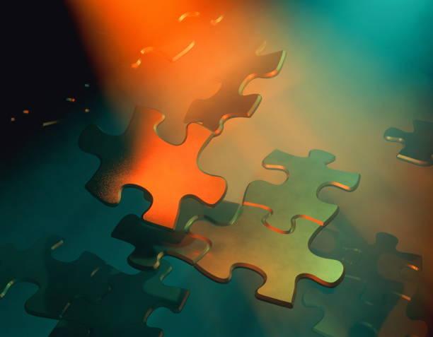 Jigsaw pieces floating.:スマホ壁紙(壁紙.com)
