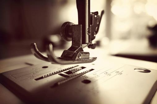 Sepia Toned「Germany, Minden, sewing machine, close up」:スマホ壁紙(1)