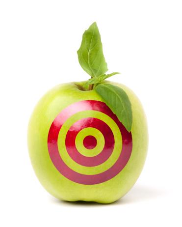 Sports Target「Green apple with target drawn on it」:スマホ壁紙(5)