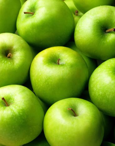 Eating「Green apple background」:スマホ壁紙(15)