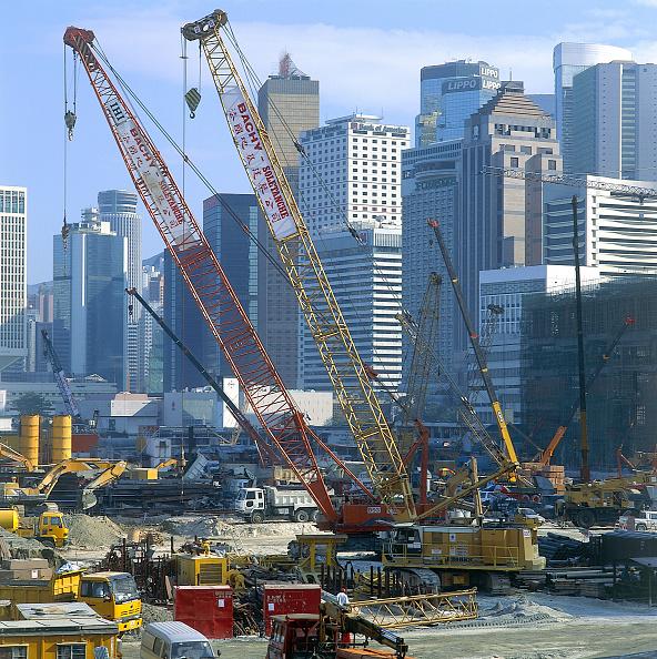 Land「Central Reclamation Piling. Hong Kong Island. 1998.」:写真・画像(13)[壁紙.com]