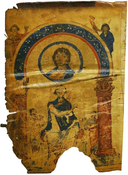 Manuscript「The Chludov Psalter Christ Emmanuel King David Enthroned」:写真・画像(1)[壁紙.com]