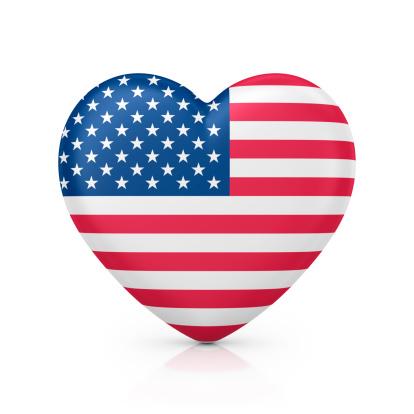 ハート「i love 米国」:スマホ壁紙(1)