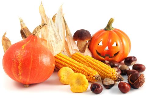 Rowanberry「Red Hokkaido halloween pumpkin with chestnuts and mushroom」:スマホ壁紙(10)