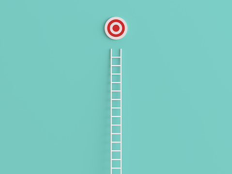 Success「Abstract Ladder leading to the target」:スマホ壁紙(9)