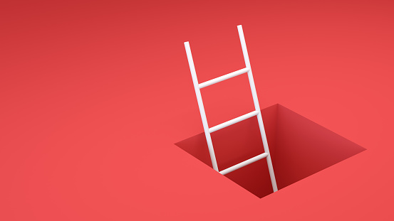 Success「Abstract Ladder leading to the exit」:スマホ壁紙(3)