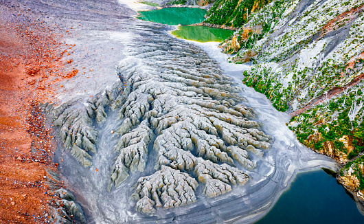 Volcano「Abstract landscape of the Chaiten volcano caldera」:スマホ壁紙(19)