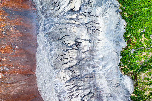 Unmanned Aerial Vehicle「Abstract landscape of the Chaiten volcano caldera」:スマホ壁紙(15)