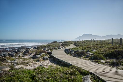 Wave「Wide angle shot on Kommetjie beach with ocean view and wooden boardwalk, Kommetjie, Cape Town, Western Cape Province, South Africa」:スマホ壁紙(11)