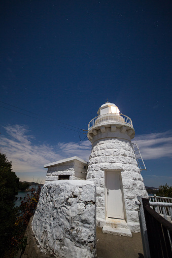 A Helping Hand「Wide angle shot of a lighthouse at night」:スマホ壁紙(15)