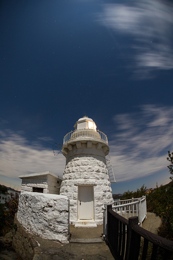 A Helping Hand「Wide angle shot of a lighthouse at night」:スマホ壁紙(17)