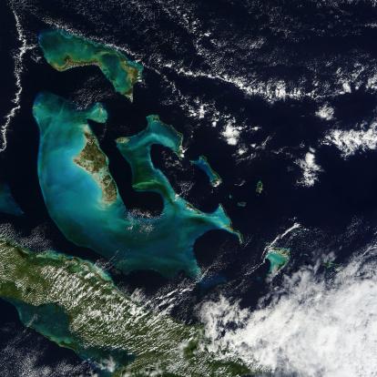 Cay「Satellite view of the Bahama Islands in the Atlantic Ocean.」:スマホ壁紙(19)