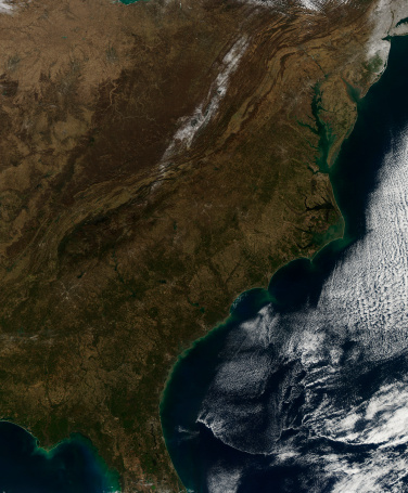 Pennsylvania「Satellite view of the Southeastern United States.」:スマホ壁紙(3)