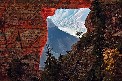 North Rim「Angels Window on the North Rim of the Grand Canyon, Arizona, America, USA」:スマホ壁紙(13)