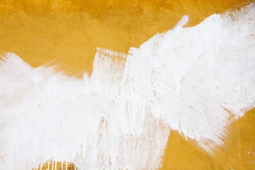 Textured「A yellow wall splashed with white paint」:スマホ壁紙(0)