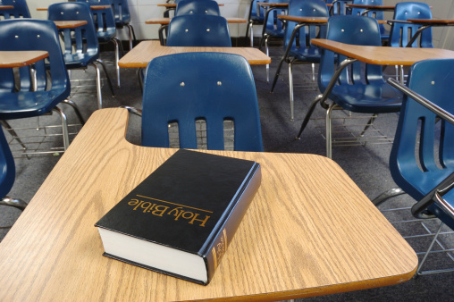 Christianity「Holy Bible Lying on a Parochial School Desk」:スマホ壁紙(2)