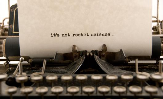 Typewriter「It's Not Rocket Science...」:スマホ壁紙(5)