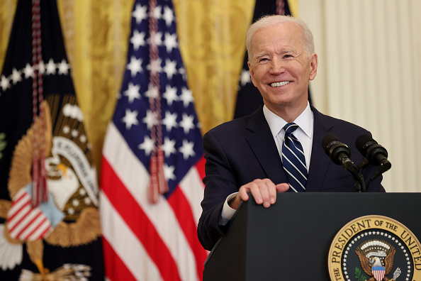 Press Room「Joe Biden Holds First Press Conference As President」:写真・画像(14)[壁紙.com]