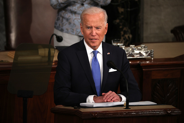Speech「President Biden Delivers First Address To Joint Session Of Congress」:写真・画像(6)[壁紙.com]