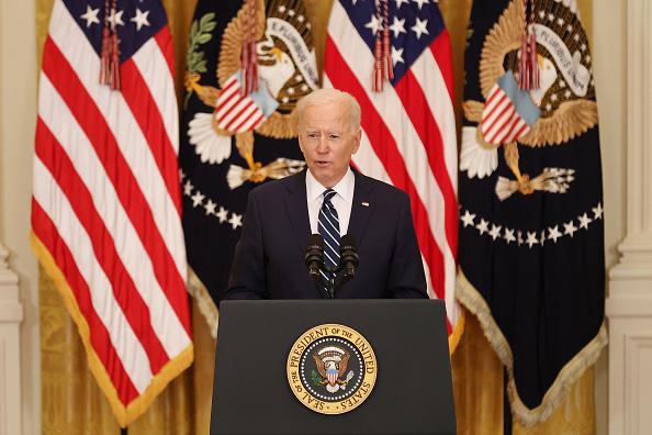 Press Room「Joe Biden Holds First Press Conference As President」:写真・画像(7)[壁紙.com]