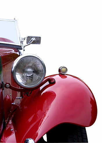 Nouvelle-Aquitaine「Red oldtimer detail (with clipping path)」:スマホ壁紙(5)