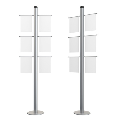 Standing「3d blank indication information stand with banners」:スマホ壁紙(17)