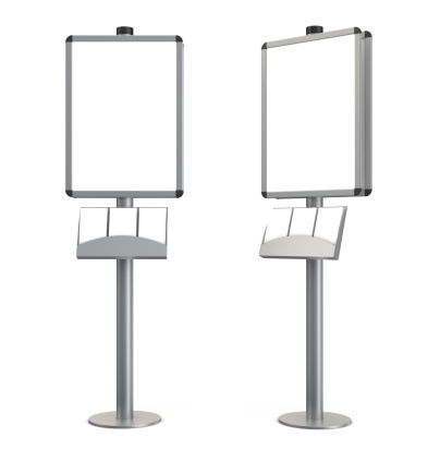 Vertical「3d blank indication information stand with brochures」:スマホ壁紙(16)