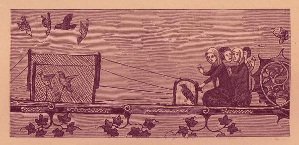Circa 14th Century「Serf catching birds」:写真・画像(9)[壁紙.com]
