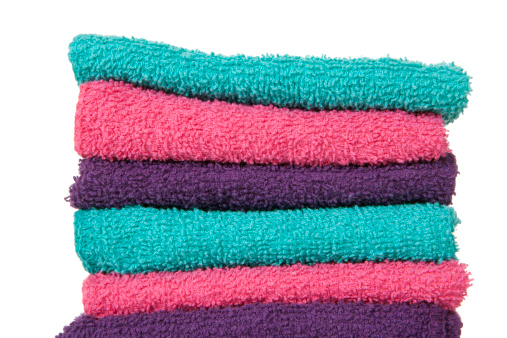 Washing「Washcloths: Colorful Folded Stack」:スマホ壁紙(11)