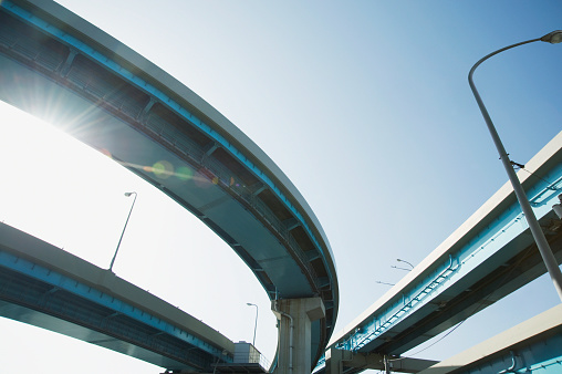 Low Angle View「Elevated Highway Seen From Below」:スマホ壁紙(11)