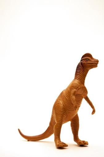 恐竜「Toy plastic dinosaur on a white background」:スマホ壁紙(5)