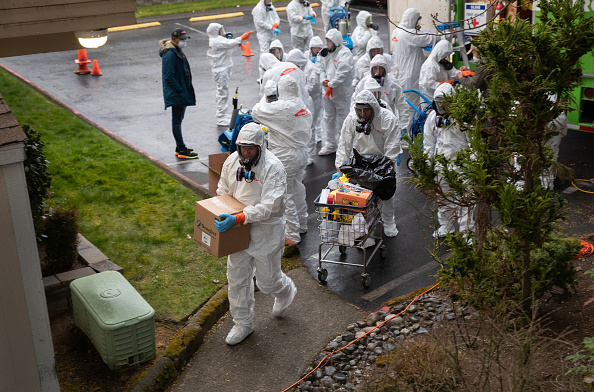 Protective Workwear「Washington State Continues Efforts To Limit Spread Of Coronavirus」:写真・画像(4)[壁紙.com]