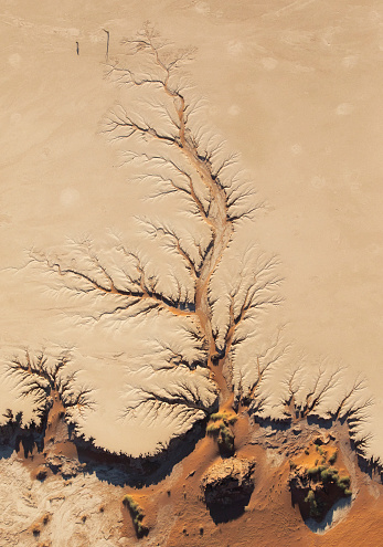 Namibia「The Namib Desert from the air, Sossusvlei, Namibia, Africa」:スマホ壁紙(15)