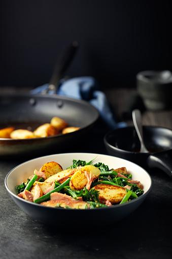 Bush Bean「Healthy roasted potato ham salad」:スマホ壁紙(2)