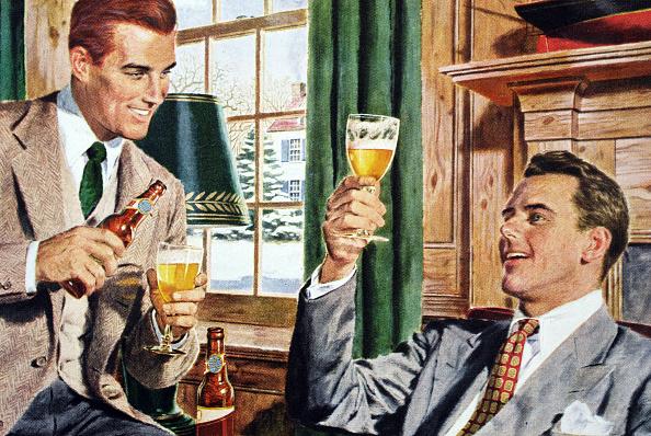 Beer - Alcohol「Men Drinking Beer After Work」:写真・画像(13)[壁紙.com]