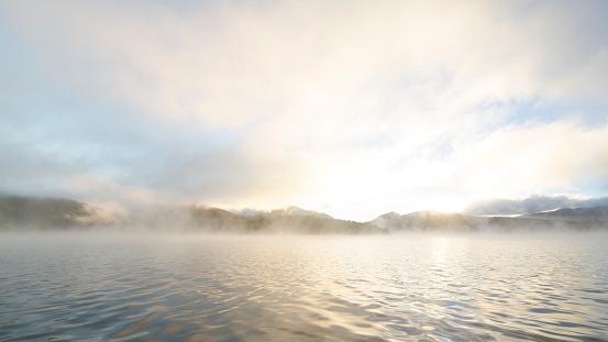 Adirondack Forest Preserve「Mist rising on Lake Placid Lake」:スマホ壁紙(5)