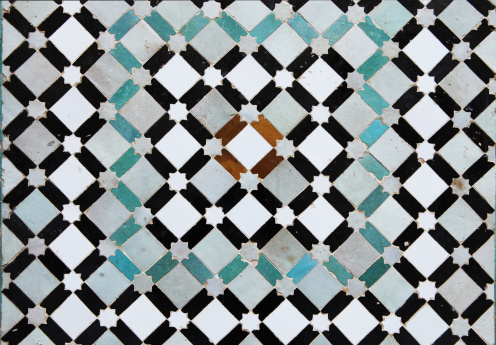 Morocco「Beautiful old tiles from Meknes medina in Morocco」:スマホ壁紙(0)