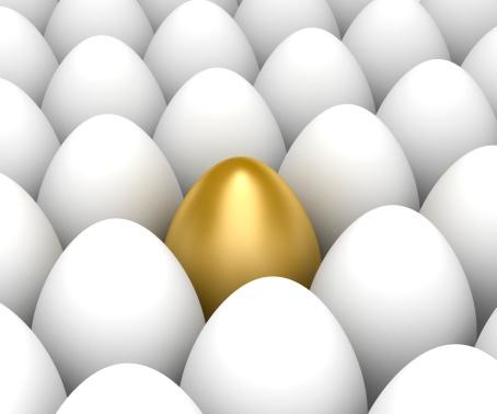 イースター「ゴールドの卵」:スマホ壁紙(5)