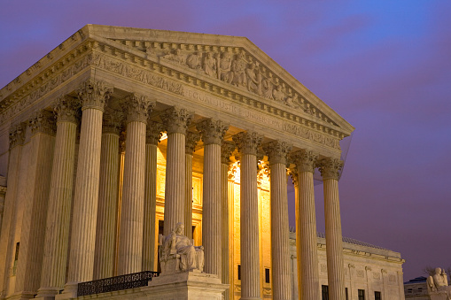 US Supreme Court Building「United States Supreme Court at Twilight」:スマホ壁紙(15)