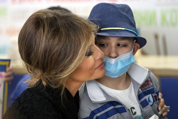 Visit「Melania Trump Visits the Paediatric Hospital Bambin Gesu」:写真・画像(5)[壁紙.com]