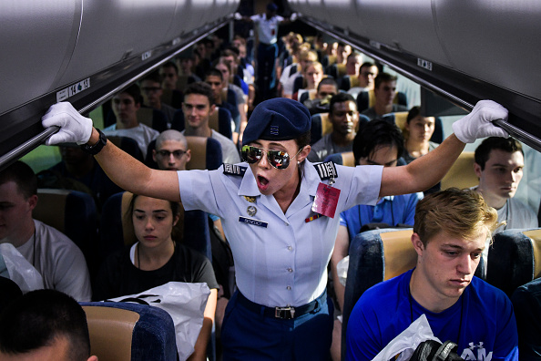 Day 1「Air Force Academy Cadets Begin First Day Of Basic Training On 'Doolie Day'」:写真・画像(17)[壁紙.com]