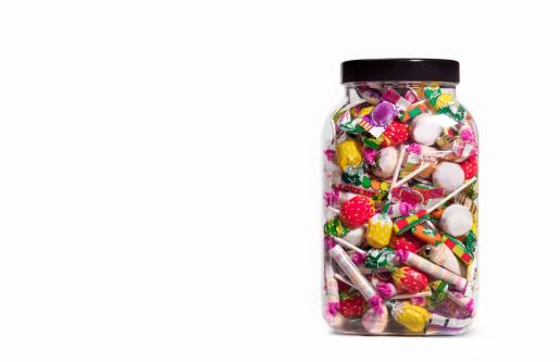 Sweet Food「Jar of sweets on white background」:スマホ壁紙(0)