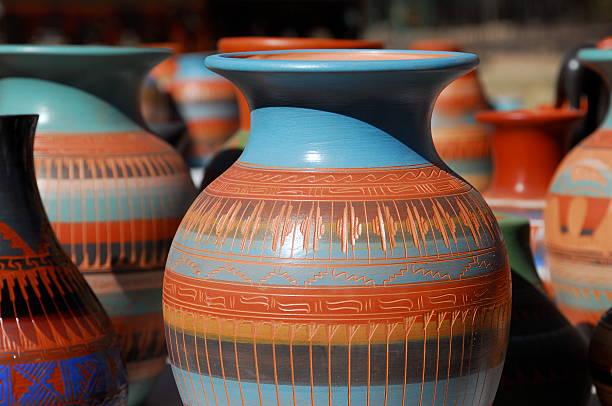 Blue and brown patterned Navaho pottery:スマホ壁紙(壁紙.com)