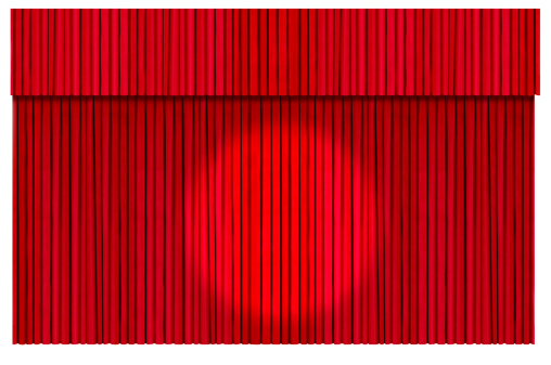 Closed「Closed Theater Curtains (isolated with clipping path over white background)」:スマホ壁紙(8)