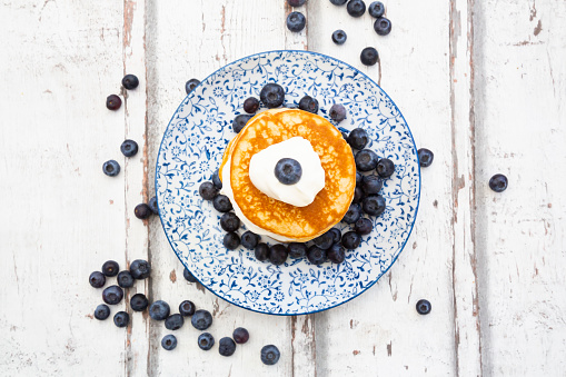 Low Carb Diet「Pancakes with blueberries and greek yogurt, with almond flour, ketogenic diet」:スマホ壁紙(14)