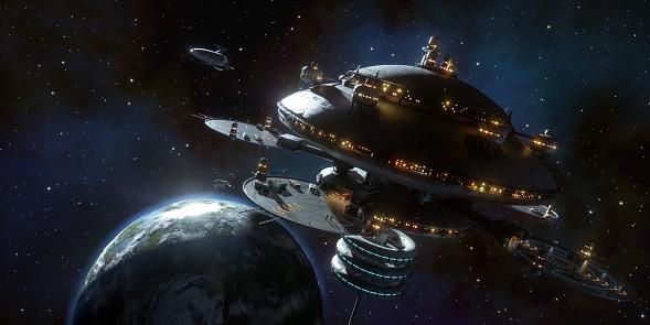 Science Fiction Film「Space Station」:スマホ壁紙(1)