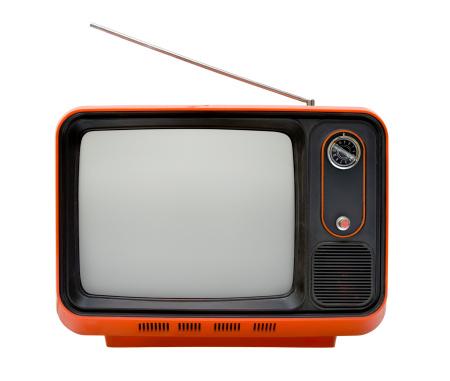 Antenna - Aerial「Front of an old orange TV」:スマホ壁紙(11)